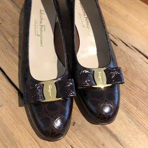 Vintage Salvatore Ferragamo Low Heel Pump